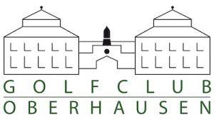 Logo des Golfclubs Oberhausen mit Torhaus der Zeche Jacobi