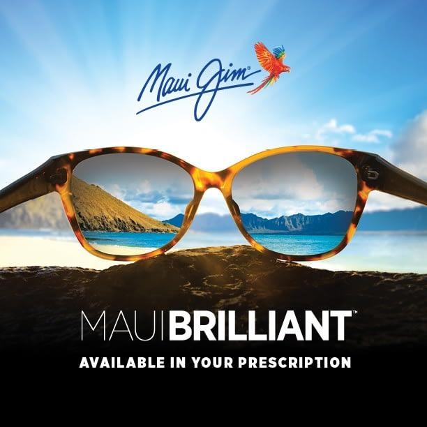 """Promotionfoto des Glasmaterials """"Maui Brilliant"""" von Maui Jim"""